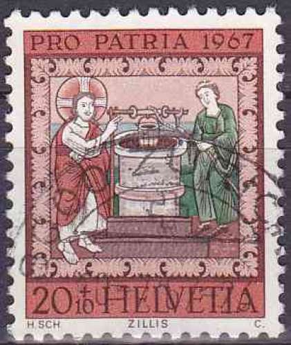 Suisse 1967 oblitéré n° 788