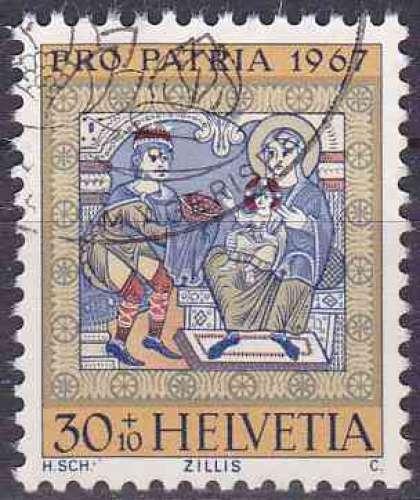 Suisse 1967 oblitéré n° 789