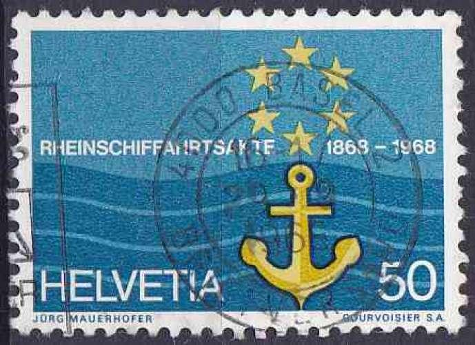 Suisse 1968 oblitéré n° 814