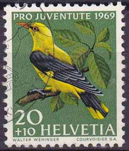 Suisse 1969 oblitéré n° 847 oiseaux