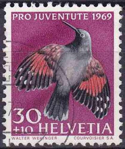 Suisse 1969 oblitéré n° 848 oiseaux