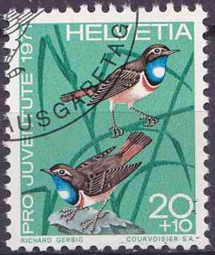 Suisse 1971 oblitéré n° 892 Oiseaux