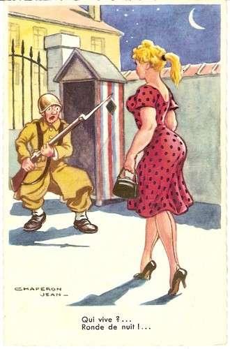 Chaperon - Militaire - Garde - Pin-up - Ronde de nuit - Série 1013