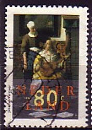 Pays-Bas 1996  Y&T  1528  oblitéré  tableau de Vermeer