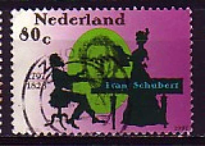 Pays-Bas 1997  Y&T  1601  oblitéré   musique  F. Schubert