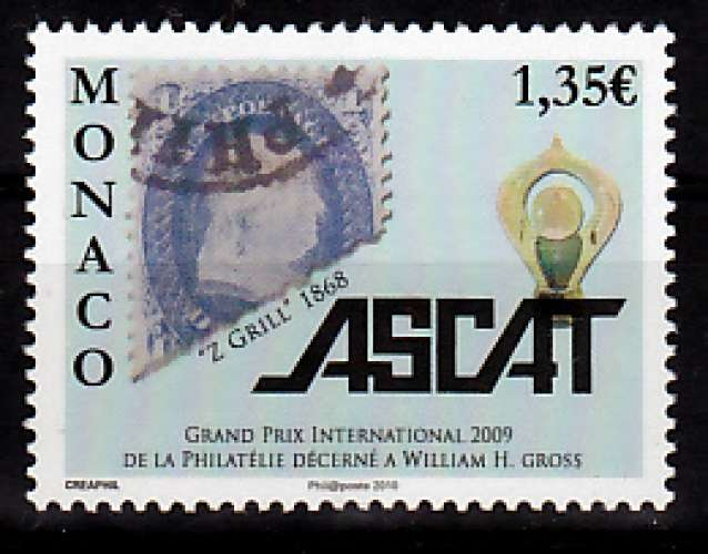 MONACO 2712 Ascat 2009 neufs ** luxe prix de la poste 1.35