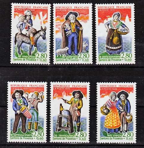 France 2976 2981 1995 Personnages Célèbres santons de Provence neuf **TB MNH prix de la poste 3.11