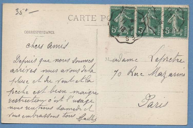 CPA Gloton plaisirs de vacances voy Conv. L. Paris A Mantes 1918 animée TB scan verso