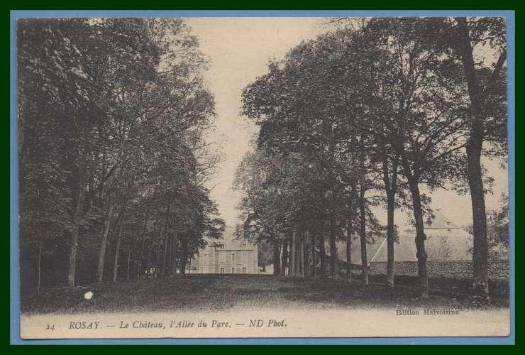 CPA Rosay château allée du parc voy sem 1914  BE