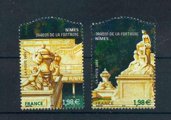 France 3786 3787  Jardins de France 2005 du bf 84 neuf ** TB MNH sin charnela  valeur faciale 3.96