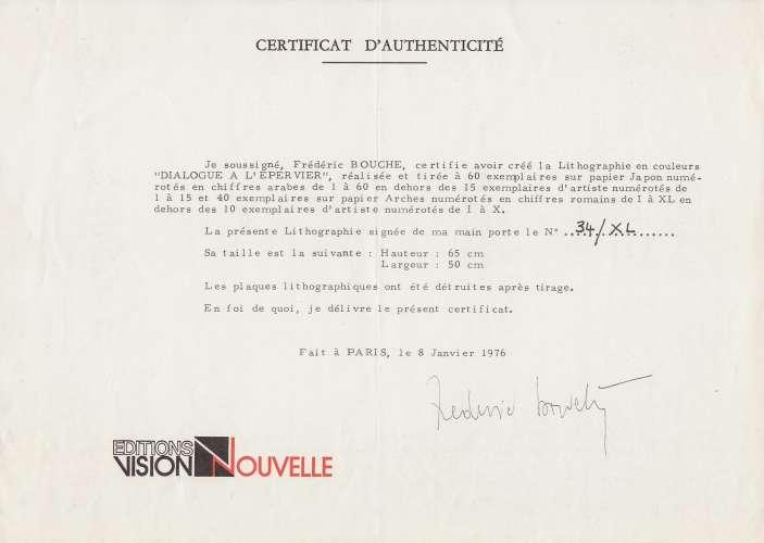 LITHOGRAPHIE ORIGINALE DE FREDERIC BOUCHE :