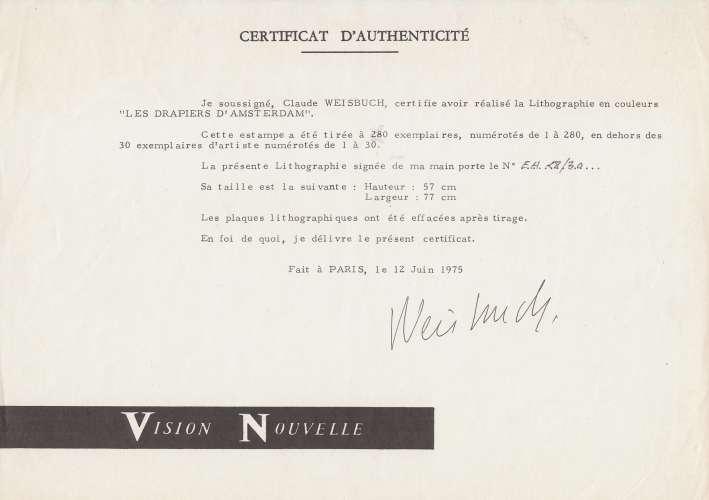 LITHOGRAPHIE ORIGINALE DE CLAUDE WEISBUCH :