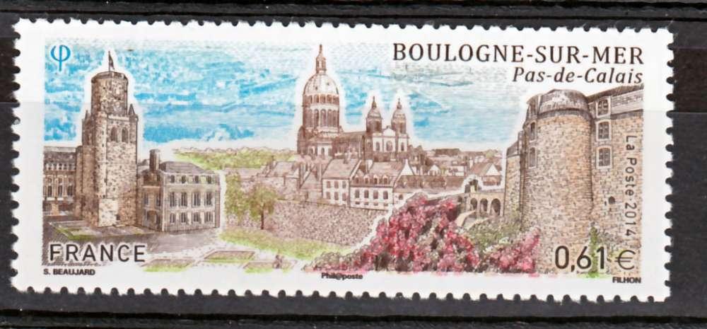 France 4862 2014 Boulogne sur mer  neuf TB ** MNH sin charnela prix de la poste 0.61