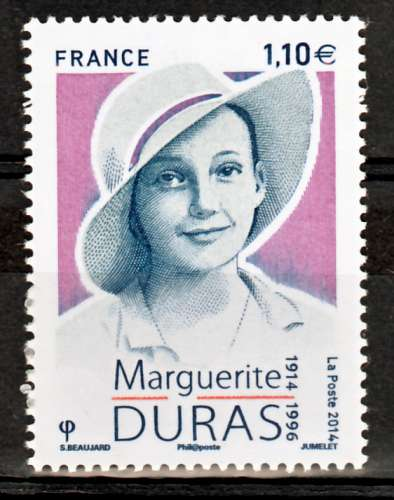 France 4850 2014 Marguerite Duras neuf TB ** MNH sin charnela prix de la poste 1.1