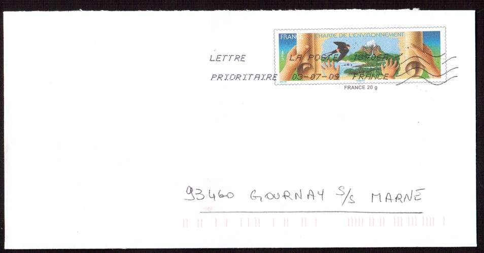 France  PAP Y&T B1-028N  charte de l'environnement Phil@poste France 20 g, circulé