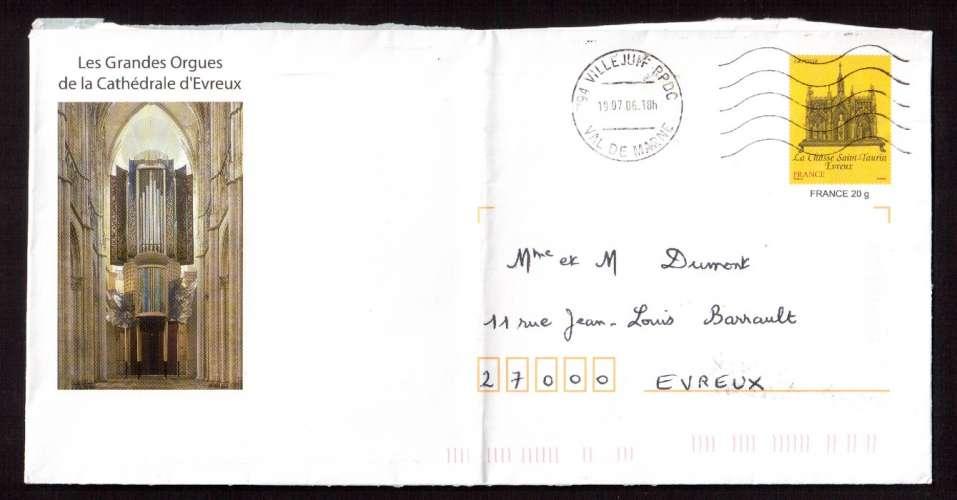 France  2006 PAP Y&T  2926-E1 les grandes orgues de la cathédrale d'Evreux, circulé
