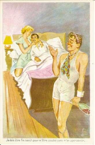 Carrière - Ivresse - Amant - Pin-up - Je dois être fin saoul pour m'être couché ... - Série 379