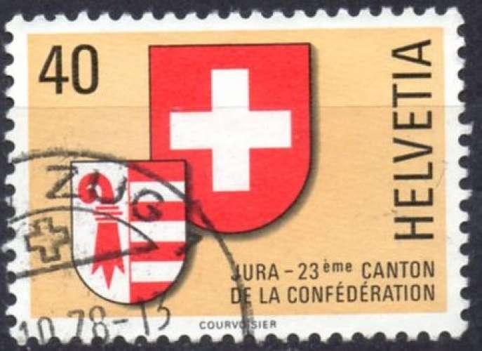 8321N - Y&T n° 1071 - oblitéré - Jura - 23ème canton - 1978 - Suisse