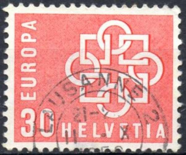 8330N - Y&T n° 630 - oblitéré - Europa - 1959 - Suisse