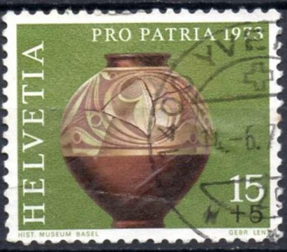 8335N - Y&T n° 926 - oblitéré - Pro patria - Vase celtique - 1973 - Suisse