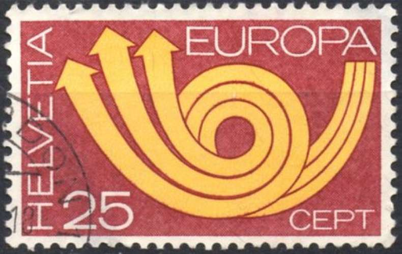 8337N - Y&T n° 924 - oblitéré - Europa - 1973 - Suisse