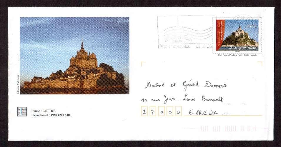 France 2006 PAP Y&T 3924-E1 Mont-Saint-Michel  circulé