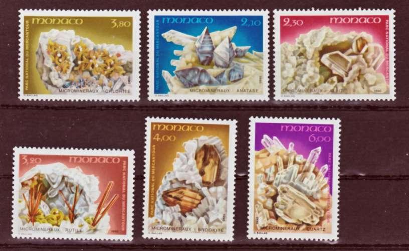 MONACO 1730 1735 MINÉRAUX 1990 neufs ** TB MNH SIN CHARNELA  faciale 3.26