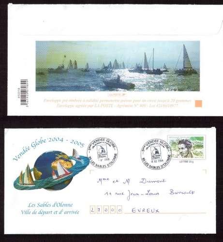 France 2004 PAP Y&T 2913-E2 Vendée Globe cachets les Sables d'Olonne ville de départ et d'arrivée