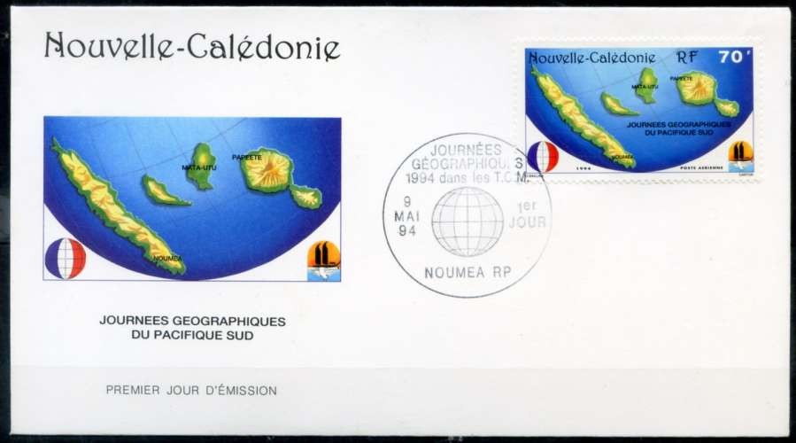 NOUVELLE-CALEDONIE . 1993. Y & T -   PA   N°   312 (o)  _  Cote  :   1,25   €