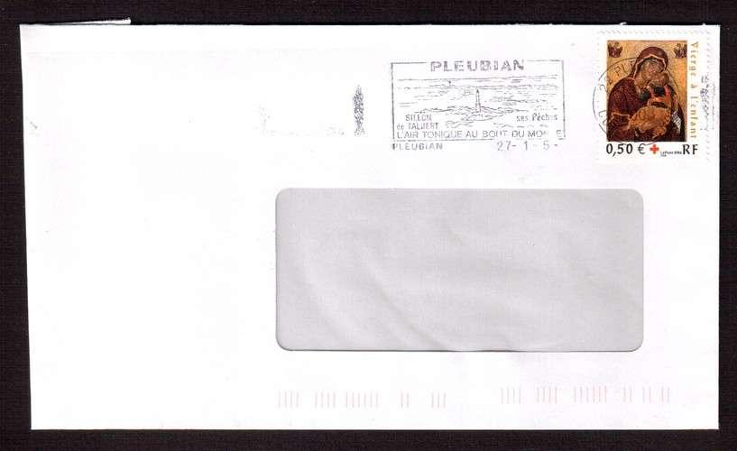 France 2004 Y&T 3717 (o) croix rouge icône crétoise 0,50€  sur lettre