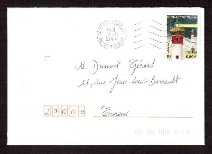 France 2004 Y&T 3715 (o) le phare d'Ouistreham 0,50€  sur lettre