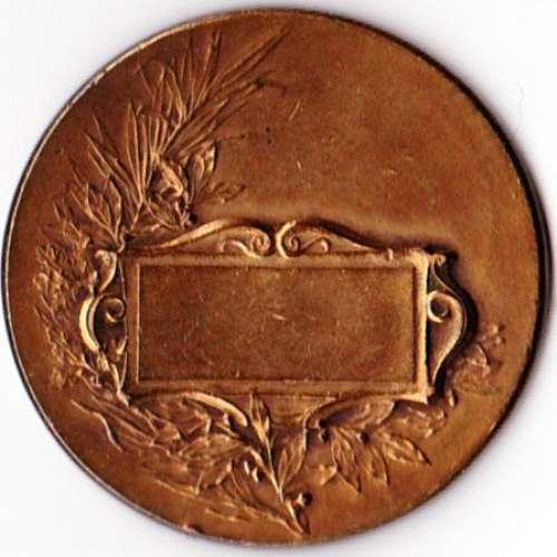 Médaille en bronze PATRIA gravée par Félix Rasumny avec poinçon sur la tranche