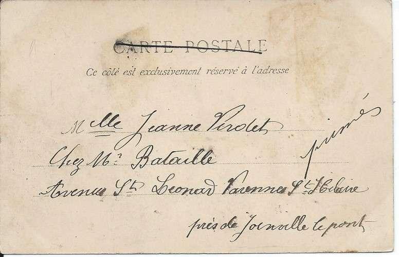 CPA - 78 - Conflans Fin d'Oise - Avenue du Pont - 1909 - Dos non divisé scanné