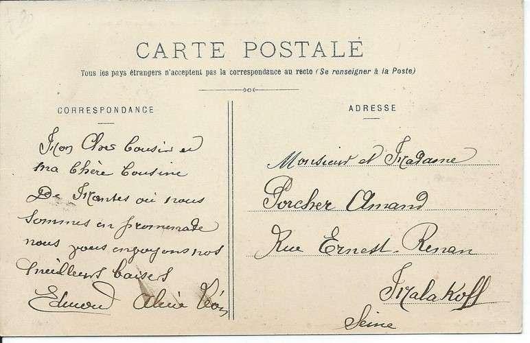 CPA - 78 - Mantes-la-Jolie - Marché et Fontaine - Dos scanné