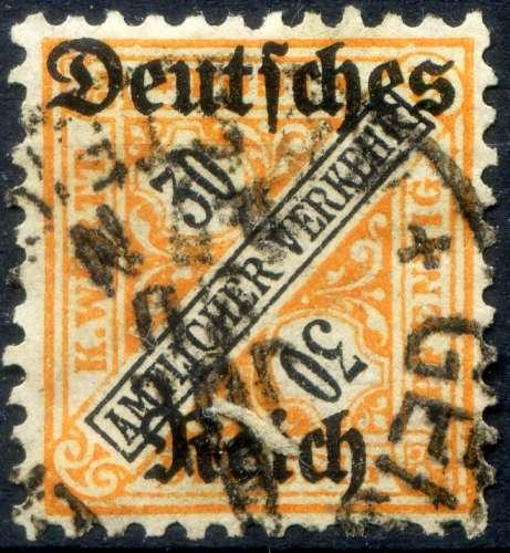 WURTEMBERG    _  Y & T  :Service    N°  139  (o)  -     Cote  :   3,00   €
