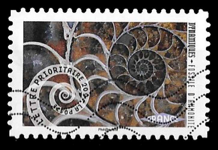 France - autoadhésif - Y&T 931 (o) - dynamiques - ammonite - année 2014