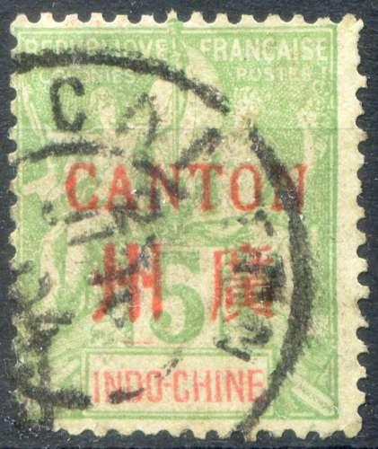 CANTON  _  Y & T  _      N°   5  (o)  -     Cote  :   3,70  €