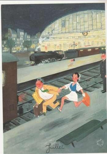 Bellus  Publicité  Laboratoires  Le Brun Juillet 1968 Le train