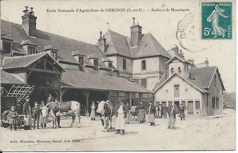 CPA - 78 - Grignon - Atelier de Menuiserie - Ecole Agriculture - 1910 - Dos scanné