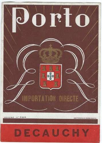 Etiquette - Porto - Importation Directe - DECAUCHY (2)