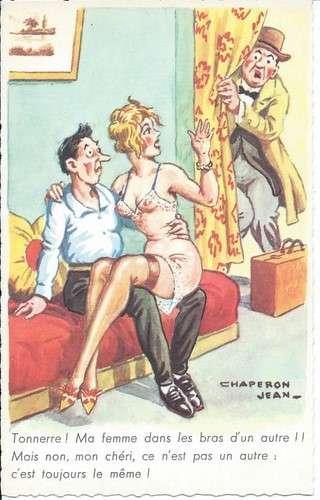 Chaperon - Adultère - Cocu - Tonnerre Ma femme dans les bras d'un autre - Pin-up - Série 22