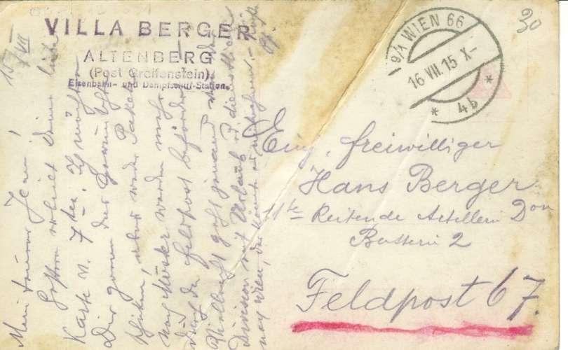 Cpa Der kaiser Wärend der siggreichen Gefechte am sam , Cachet feldpost  voyagée  1915