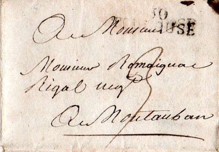 Dept 31 (Haute Garonne) MP 30/TOULOUSE 1816 (voir details)