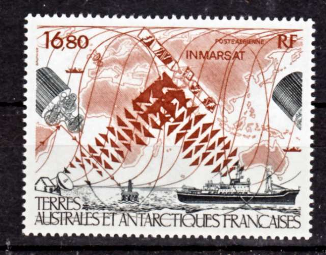 TAAF PA  99 satellitte INMARSAT 1987 neuf ** TB MNH sin charnela faciale 2.56