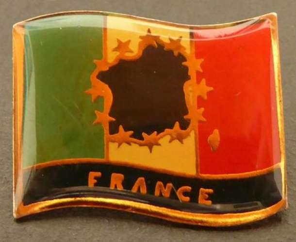 France Pin´s France - Drapeau et étoiles européennes