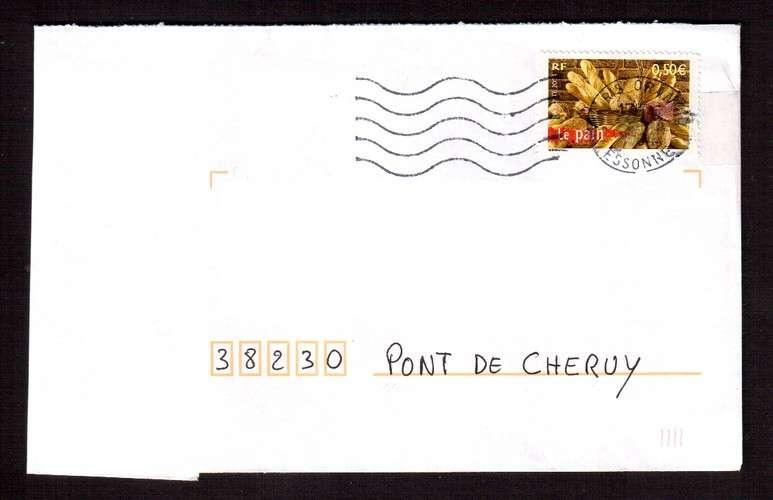France 2004 Y&T 3649 (o) le pain 0,50€ du bloc 68 La France à Vivre sur lettre