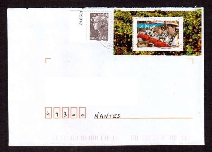 France 2004 Y&T 3655 (o) le bagad 0,50€ du bloc 68 La France à Vivre sur