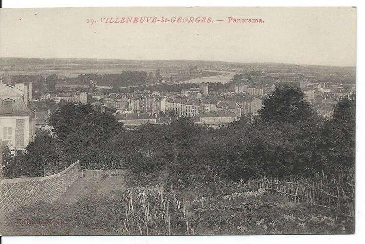 CPA - 94 - Villeneuve-Saint-Georges - Panorama - Collector - Dos scanné