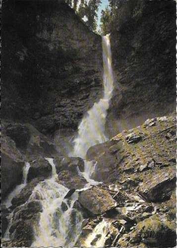 Cpsm 74 Samoens , cascade du nant dant ,  écrite 1971