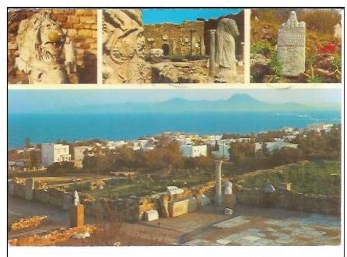 Cpsm Tunisie - Carthage ruines puniques et romaines, écrite et timbrée 1979